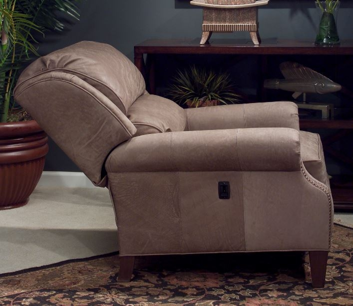 Leather Tilt Back Chair (matching Ottoman Shown)